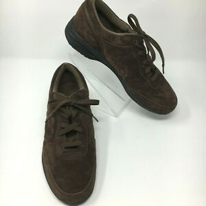 Propet Shock Absorber Walking Comfort Shoe Womens size 9W Brown Suede washable