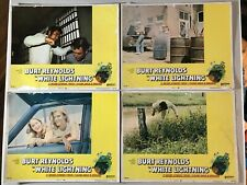 4 Original Lobby Cards 11x14: White Lightning (1973) Burt Reynolds
