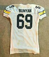 1995 MICHIGAN FOOTBALL JOHN RUNYAN #69 GAME WORN ALAMO BOWL JERSEY PHILLY EAGLES