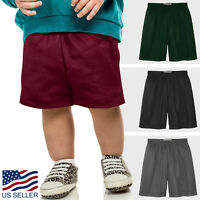 Kids Basketball PE SHORTS School Uniform Mesh Boys Girls Athletic Casual Pants