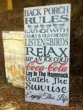 Back Porch Rules, Home Decor Sign, Porch Sign, Welcome Sign, Rustic Home Decor
