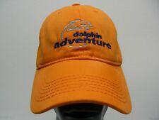 Dolphin Adventure - One Size - Orange - Adjustable Strapback Ball Cap Hat!