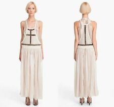 "SASS & BIDE 'Killing Me Softly"" Armour Embellished Tulle Pinafore Maxi Dress - 8"