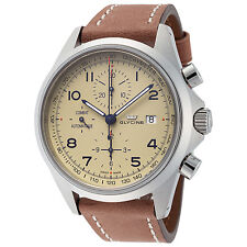 Glycine Men's 3945.15AT LB7BH Combat Chronograph Automatic 43mm Cream Dial Watch