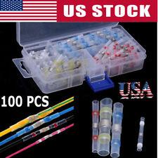 100pcs Heat Shrink Solder Sleeve Butt Splice Wire Connector Waterproof Sale