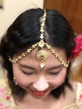 Maang Matha Passa Patti Tikka Bollywood Indian Hair Accessory Gold Tone T82