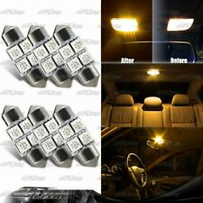 6X AMBER Festoon SMD Interior 31MM LED Dome Map Light DE3021/3022/3175 For MAZDA