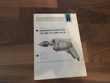 Smalcalda Bedienungsanleitung DDR für Heimwerker Bohrpistole HBM 251.1/ 251.1 R