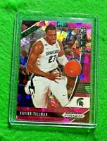 XAVIER TILLMAN PRIZM PINK ICE ROOKIE CARD SPARTANS RC GRIZZLIES 2020 PANINI RC