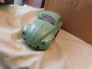 Vintage Tonka Volkswagen Beetle Bug Twinkle Light Green #52680 Pressed Steel VW