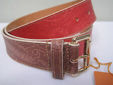 $240 ETRO MILANO LEATHER BELT SIZE 90/36  MADE IN ITALY NWT