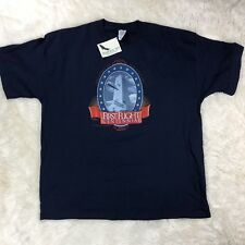 NWT First Flight Centennial Shirt Adult Sz 2XL Wright Brothers Blue Short Sleeve