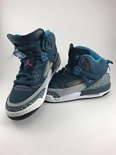 Youth AIR JORDAN Blue White & Gray Sneakers Size US6Y UK5.5 Ex Condition!