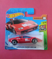 HOT WHEELS - LAMBORGHINI COUNTACH PACE - EXOTICS - SHORT CARTE - FJV79 - R 5761
