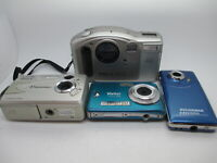 Lot Of Digital Cameras, Tested and working VIvitar Vu POint Digital Concept Etc.