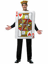 Rasta Imposta Adult Men Kings OF Hearts Costume - Tunic & Crown Sz OSFM (NEW)