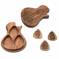 Personalized Engraved Wooden Guitar Picks Plectrum Wooden Box Acoustic Gift