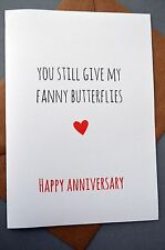 Anniversary Greetings Card/ Funny /Humour / Laughs / Banter - F Butterflies