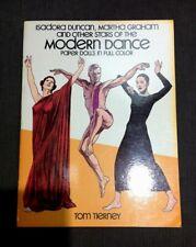 Vintage Stars of Modern Dance Paper Dolls Full Color Tom Tierney