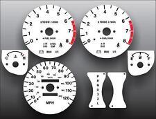 1998-1999 Isuzu Rodeo Amigo Dash Instrument Cluster White Face Gauges