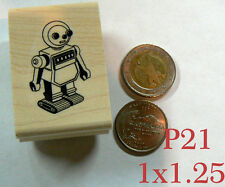 P21 Retro Robot rubber stamp