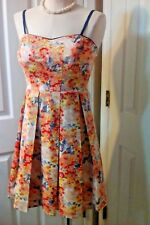 Dress, Sun Dress with Built-in Bra, Ladies Size S, American Rag Cie, Floral