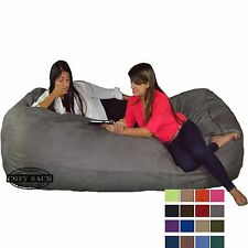 "Bean Bag Chair 8' Foot Cozy Bean Bag 8'x40""x40"" Factory Direct Big Lounger Sack"