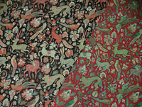 Tudor Forest Tapestry Vintage Fabric - Curtain Upholstery Cushions Table Runner