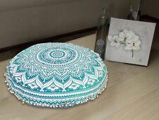 Round Pillow Case Mandala Geometric Meditation Floor Cushion Cover Multistyle