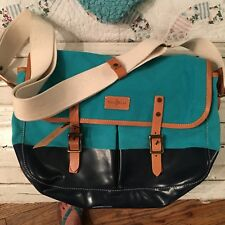 NWT $328 COLE HAAN CANVAS & LEATHER MESSENGER BAG