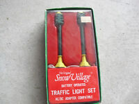 Vintage Department 56 Snow Village Battery Operated Traffic Light Set in Box