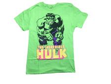 Marvel Men's The Incredible Hulk Neon Green Retro Graphic Licensed T-Shirt New