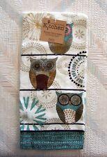 Owl Terry Towel Kay Dee Spice Road Owl Pattern