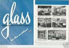 1947 LIBBEY OWENS FORD Glass Co LOF Industrial Architect Data 24pg VTG Catalog
