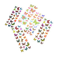 5 Sheets Colorful 3D Butterflies Scrapbooking Bubble Puffy Stickers AL