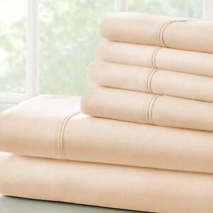 Ultra Soft Egyptian Comfort 4 Piece Sheet Set - 2 FREE BONUS PILLOWCASES!