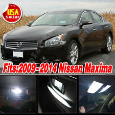 13 PCS Xenon White LED Lights Interior Package Deal for 2009-2014 Nissan Maxima
