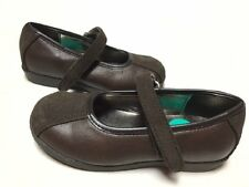New STRIDE RITE Mary Jane Shoes Tess Brown Leather Suede 8 M