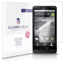 iLLumiShield Phone Screen Protector w Anti-Bubble/Print 3x for Motorola Droid X2