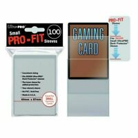Ultra PRO Small Pro Fit Sleeves Card Deck Protectors Clear 100ct 60 x 87mm