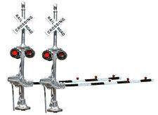 HO Scale RH Grade Crossing Signals w/Black Gates Brass NJ International 1167