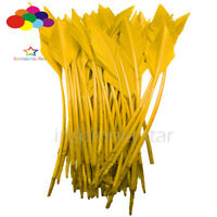 50 Pcs yellow arrow turkey feathers 25-30 CM/10-12 INCH for jewelry Diy Carnival