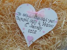 Personalised Engagement Anniversary Wedding Heart Plaque Gift