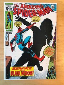 THE AMAZING SPIDER-MAN #86 (RE-INTRO.  & ORIGIN OF BLACK WIDOW IN NEW COSTUME).