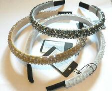 Cerchietto capelli donna cristalli elegante passata fermacapelli vari colori