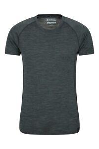 Mountain Warehouse Merino T-Shirt Herren Merinowolle Atmungsaktiv