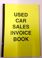 Used Car Sales Invoice Receipt Book A4 for Selling Motor Vehicle Ideal for Trade