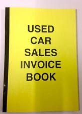 AUTO USATA fattura di vendita Ricezione LIBRO A4 per la vendita di veicoli a motore ideale per il commercio