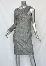 CHRISTIAN DIOR Sexy Tweed One-Sleeve Bustier Asymmetrical-Shoulder Dress 8/40