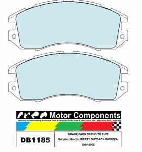 BRAKE PADS DB1185 TO SUIT Subaru Liberty,LIBERTY OUTBACK,IMPREZA 1989-2000
